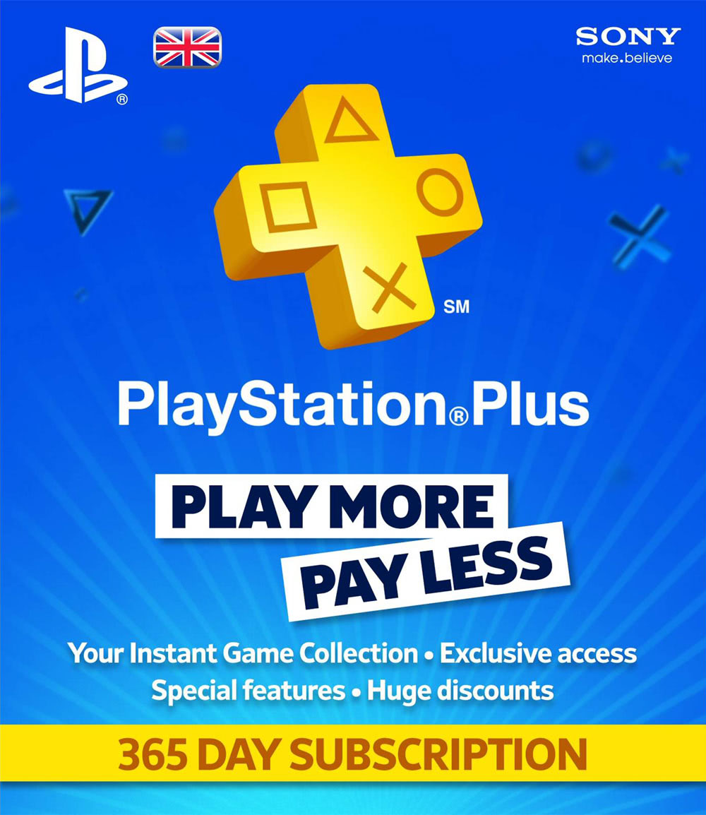 Playstation Plus - 12 months (UK)
